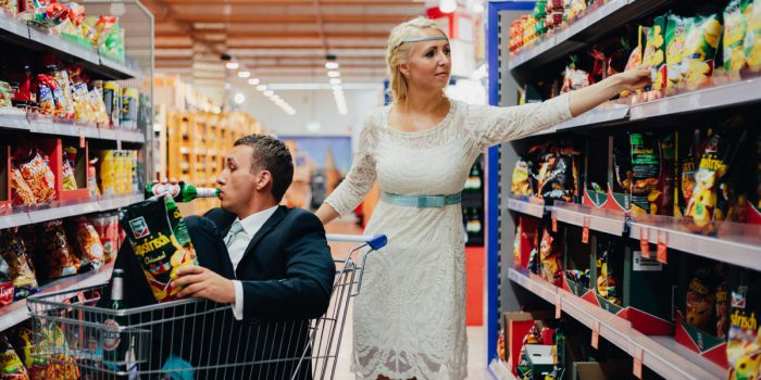 Supermarket wedding