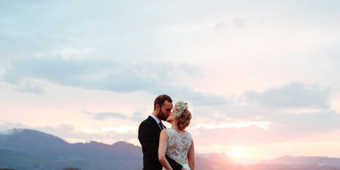 Outdoor wedding in the Austrian alps