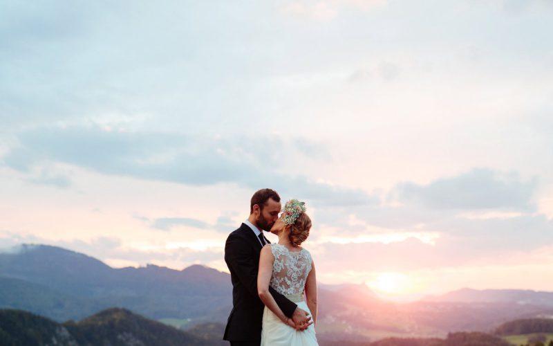 Outdoor wedding in the Austrian alps