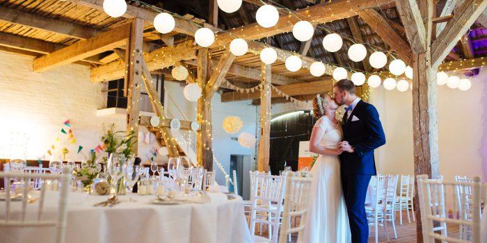 Laid back barn wedding