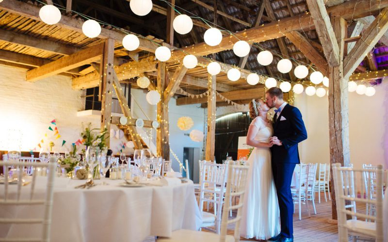 Laid back barn wedding