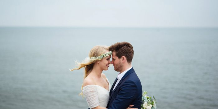 Rainy island wedding
