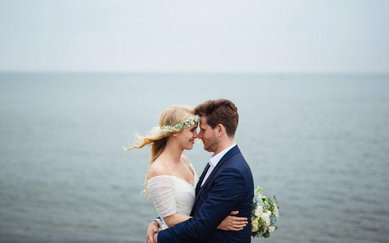 Rainy island wedding