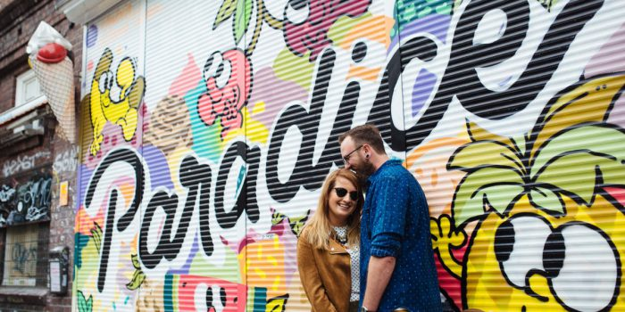 Urban colorful couple session