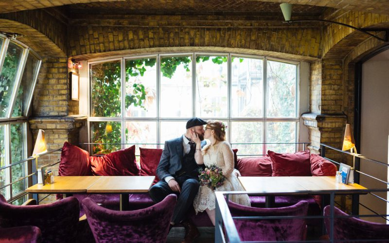 Alternative and intimate autumn wedding