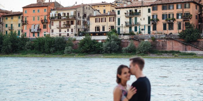 An evening walk through Verona