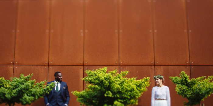 Stylish and fun african german wedding