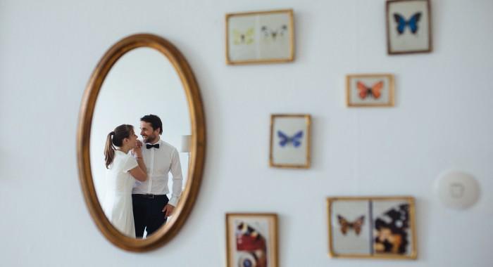 Eine intime Hochzeit im Cafe in Hamburg